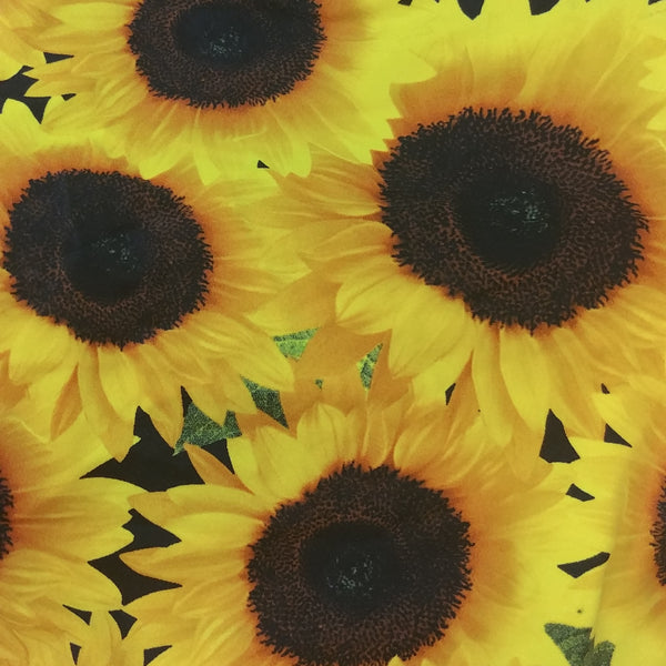 Sunflower print fabric for bikini