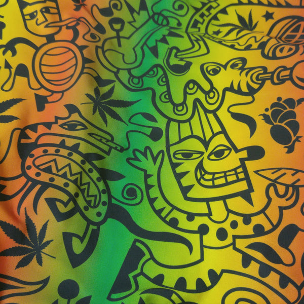 marijuana print fabric for swimsuit