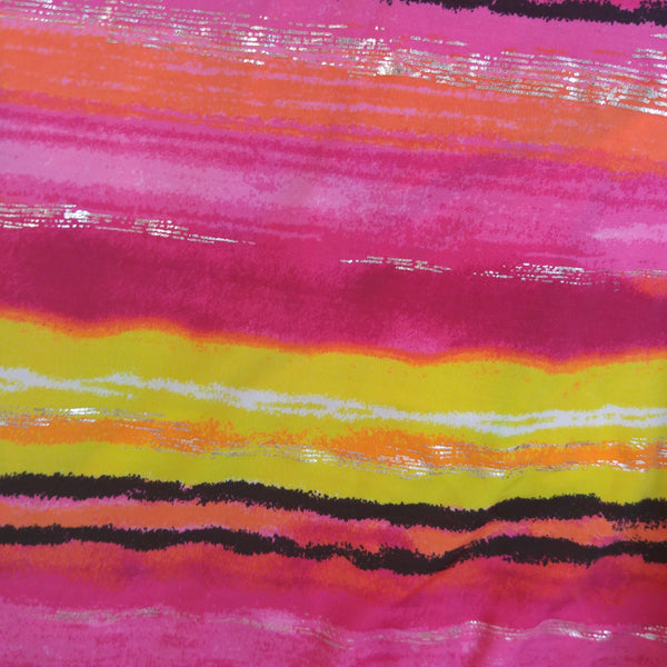 ombre striped fabric pink orange, yellow