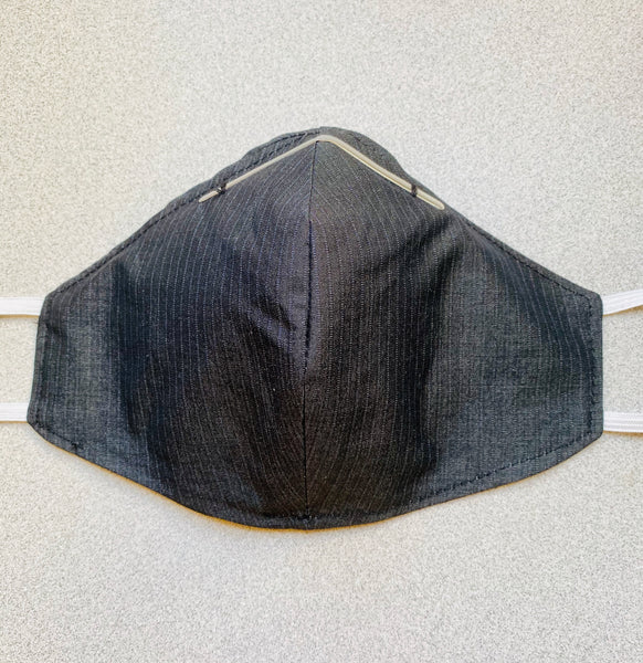 Cloth Face Mask with filter pocket and option of tie straps or elastic. Select from the options below.