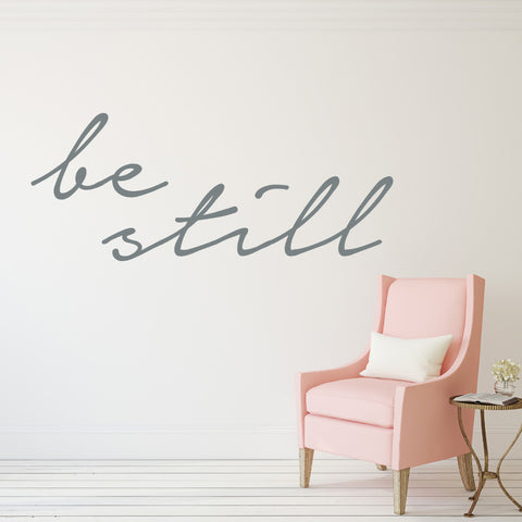 Be Still // Wall Decals - Twelve9 Printing