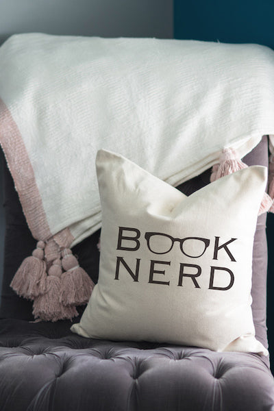 Book Nerd // Throw Pillow - Twelve9 Printing