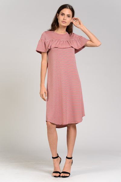 The Lucy Striped Midi Dress - Twelve9 Printing