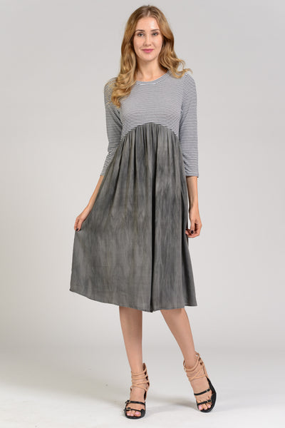 The Savannah Midi Dress - Charcoal - Twelve9 Printing