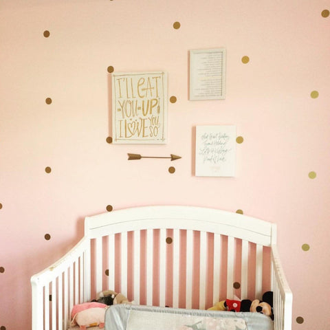 "1"" Mini Polka Dots // Wall Decals - Twelve9 Printing"