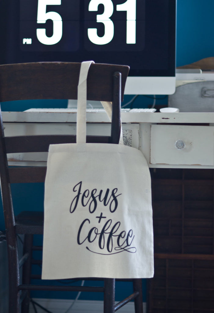 Jesus + Coffee // Canvas Tote - Twelve9 Printing