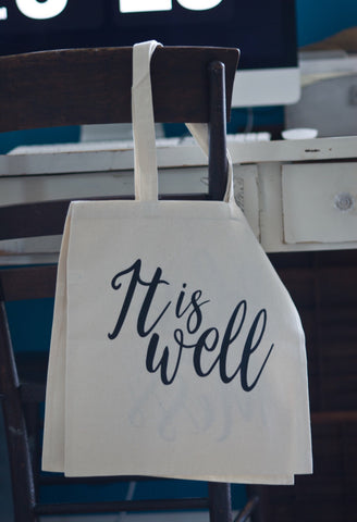 It is Well // Canvas Tote - Twelve9 Printing