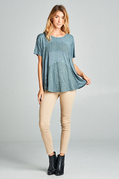 The Charleston Top - Denim - Twelve9 Printing
