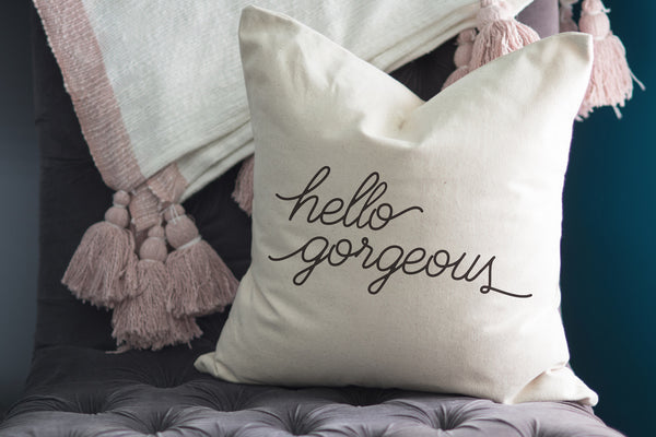 Hello Gorgeous // Throw Pillow - Twelve9 Printing