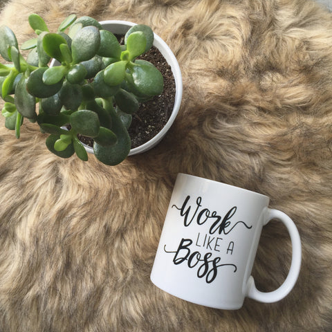 Work Like A Boss // Coffee Mug - Twelve9 Printing