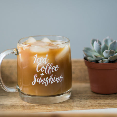 Iced Coffee + Sunshine // Glass Mug