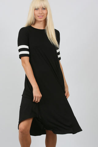 The Jersey Striped Midi Dress - Twelve9 Printing