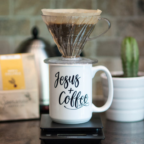Jesus + Coffee // Coffee Mug - Twelve9 Printing