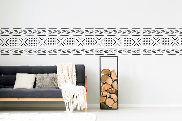 Mud Cloth Pattern // Wall Decal - Twelve9 Printing