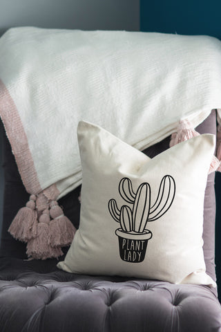 Plant Lady // Throw Pillow - Twelve9 Printing