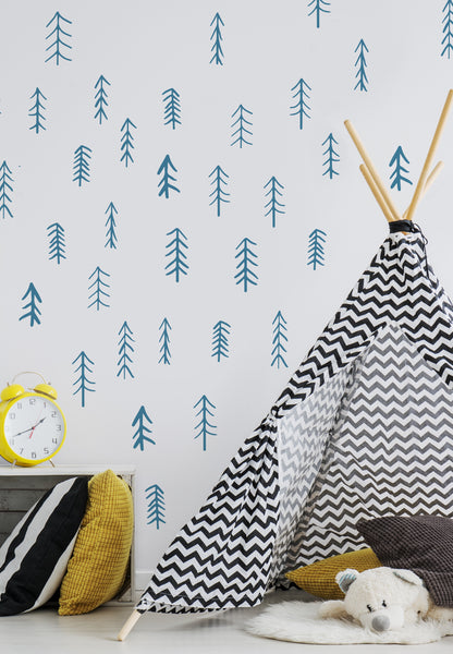Hand Drawn Trees // Wall Decal - Twelve9 Printing