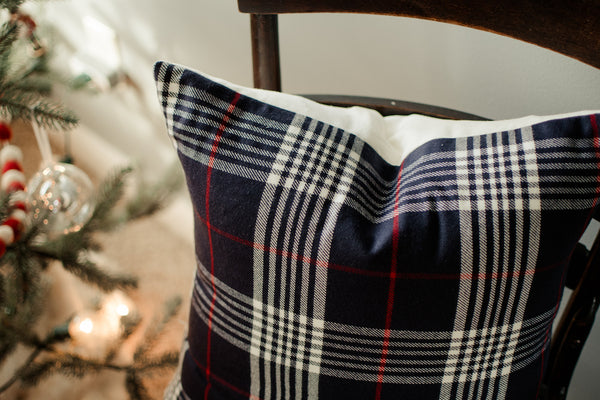 Winter Plaid // Throw Pillow - Twelve9 Printing