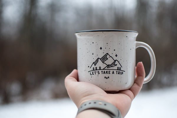 Let's Take a Trip // Campfire Coffee Mug - Twelve9 Printing