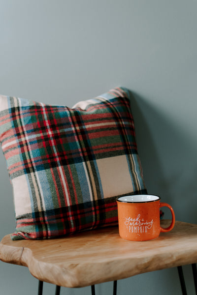 Fall Flannel // Throw Pillow