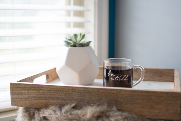 Be Still // Glass Mug - Twelve9 Printing