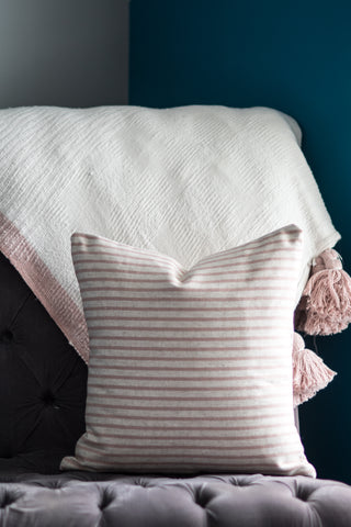 Blush + Oatmeal // Throw Pillow - Twelve9 Printing