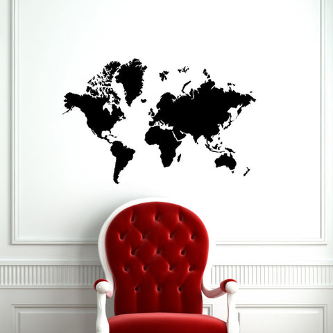 World Map // Wall Decal - Twelve9 Printing