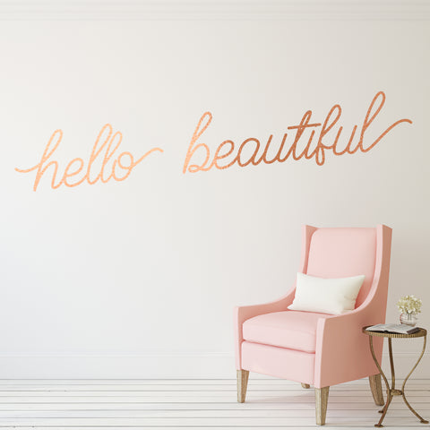 Hello Beautiful // Wall Decals - Twelve9 Printing