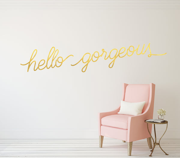 Hello Gorgeous // Wall Decals - Twelve9 Printing