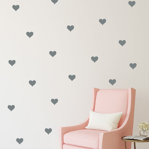 Mini Hearts // Wall Decal - Twelve9 Printing