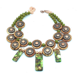 CIRCLES OF COPPER STATEMENT NECKLACE