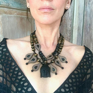 PRINCE OF PEACE OOAK STATEMENT NECKLACE