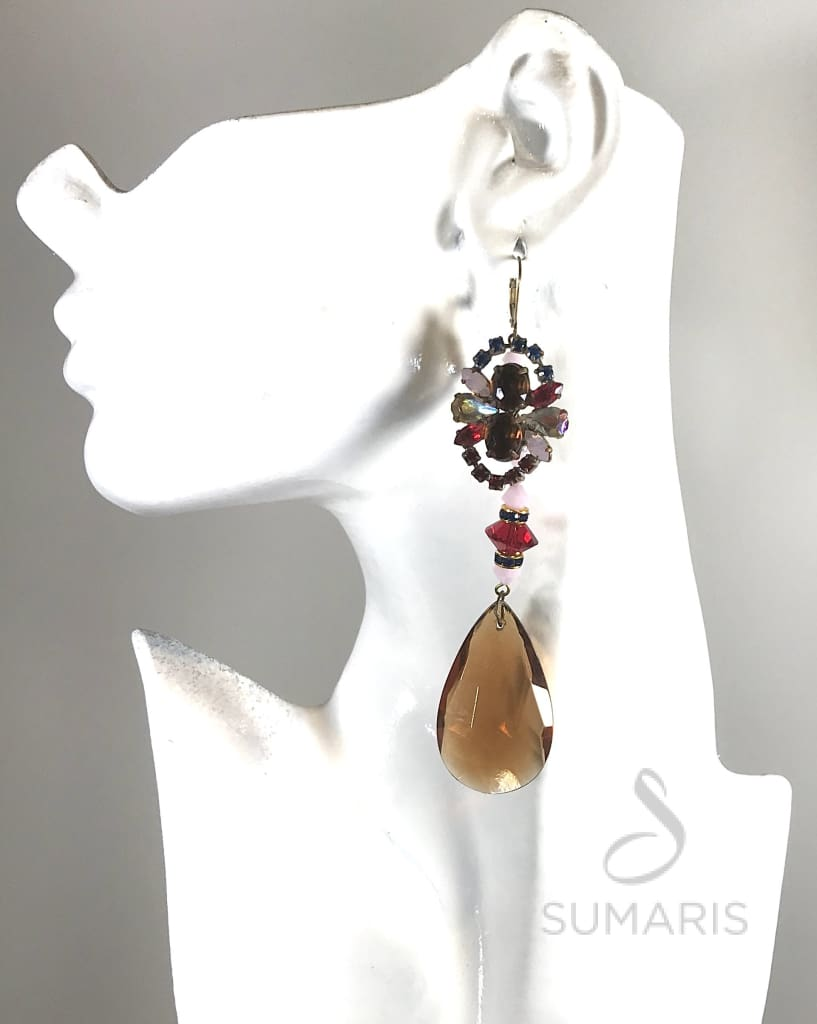 AMBER DROPS OOAK STATEMENT EARRINGS Earrings