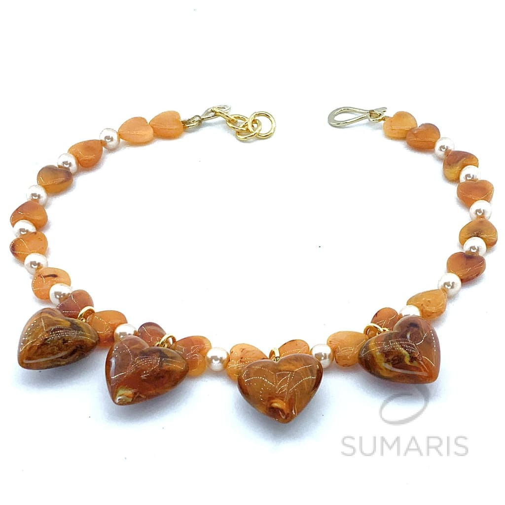 AMBER HEARTS  LIMITED EDITION NECKLACE