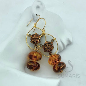 AMBER HOOPS LIMITED EDITION STATEMENT EARRINGS