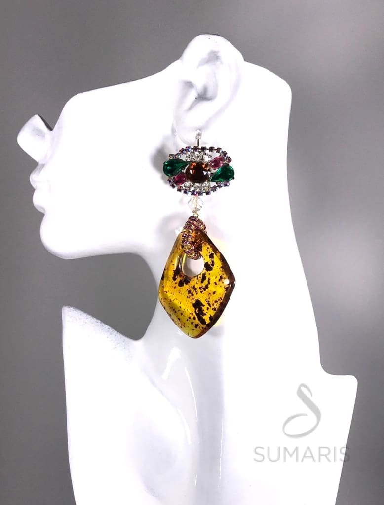 AMBER ROCKS Earrings