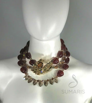 AMBER SMOKE OOAK STATEMENT NECKLACE Necklace