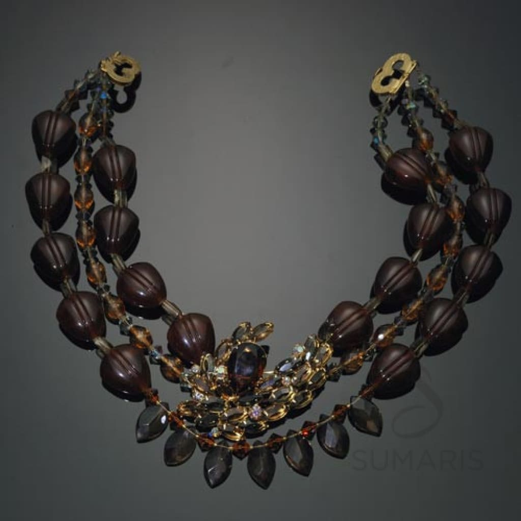 Amber Smoke Necklace Sumaris Amber / Brown Necklaces Sumaris Amber Smoke Amber Smoke
