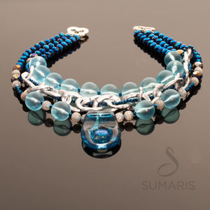 Aqua Velvet Sumaris | New York Necklace