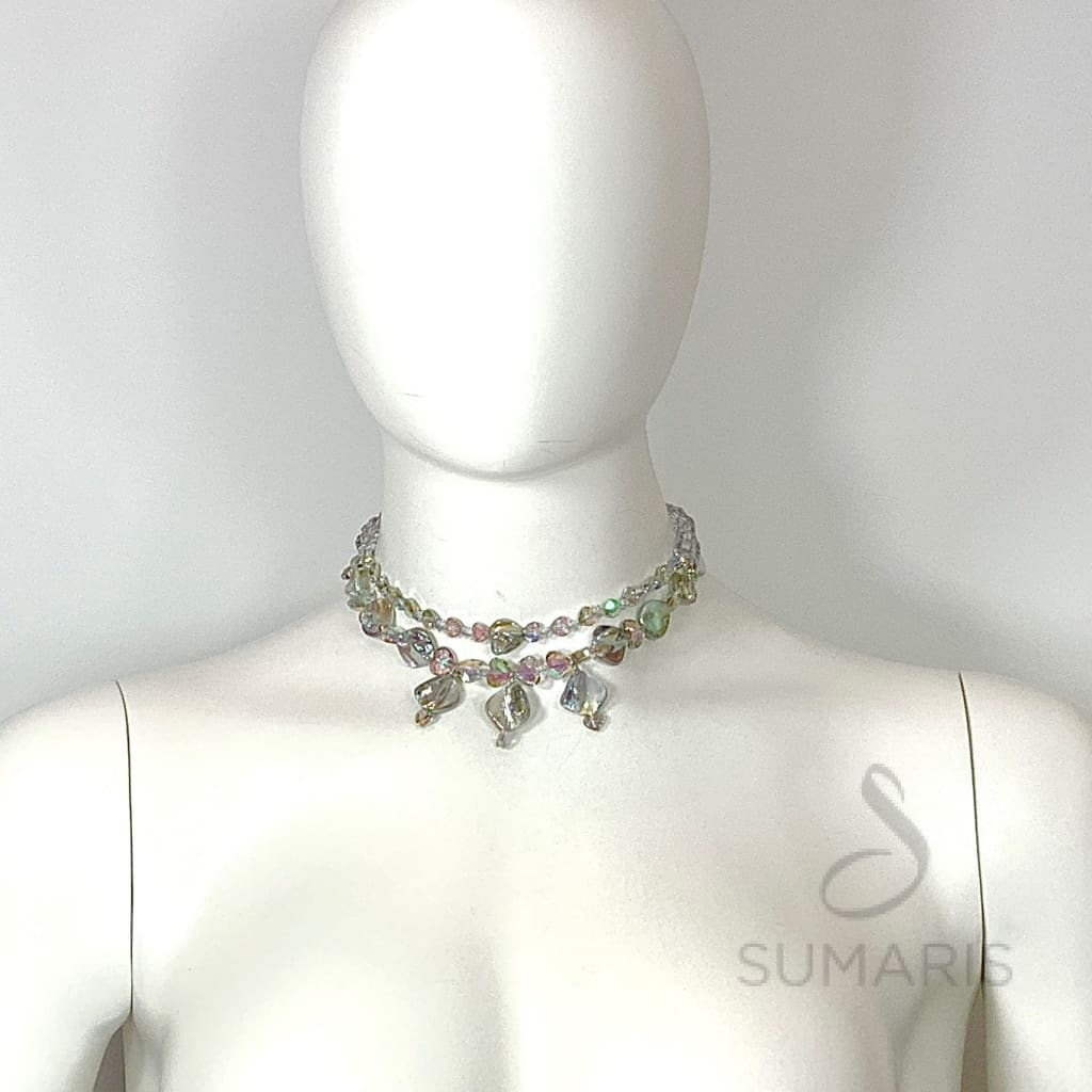 AURORA HEARTS OOAK STATEMENT CHOKER NECKLACE