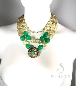 BAUBLED OOAK STATEMENT NECKLACE Necklace