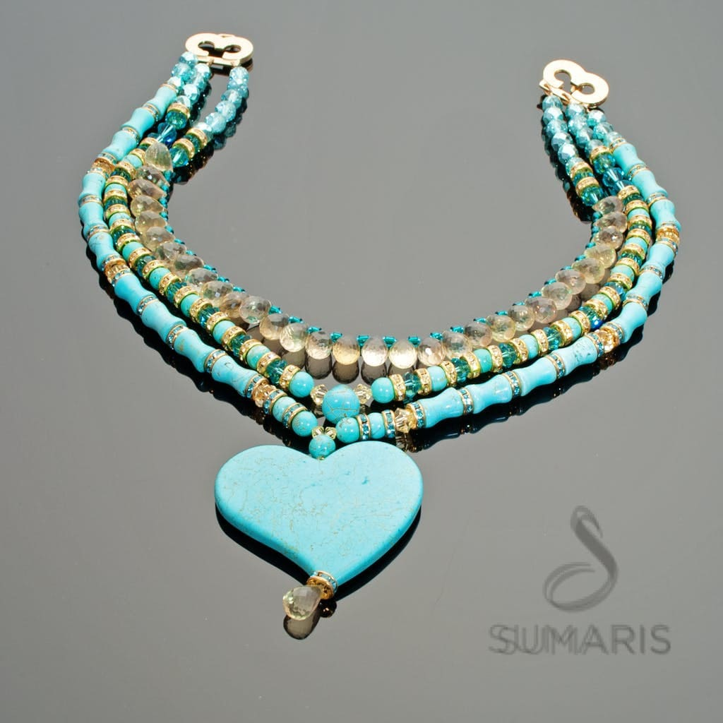 Beat Necklace Sumaris Aqua Necklaces Sumaris Beat Beat