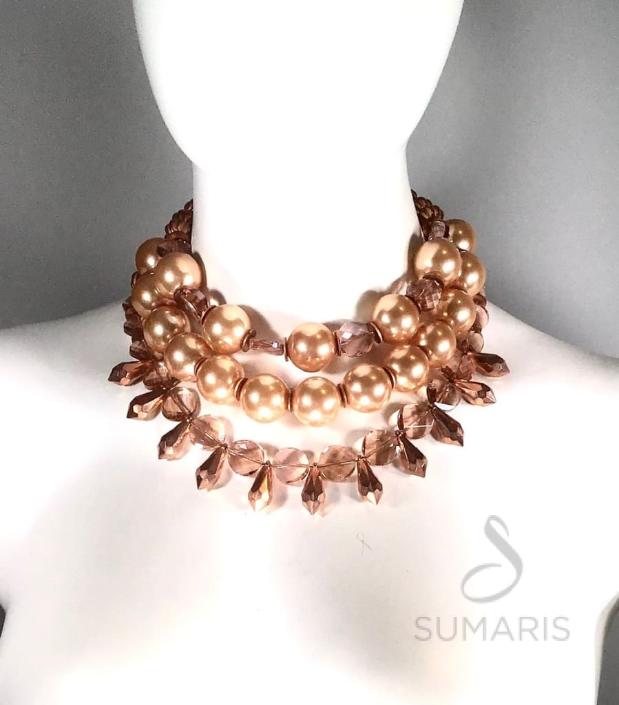 Bellini Necklace Sumaris Necklaces Pink / Peach Women Sumaris Bellini Bellini