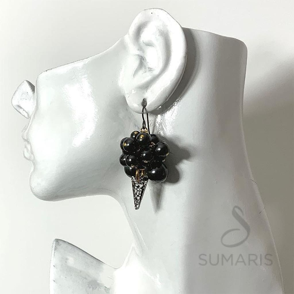BLACK GRAPES LIMITED EDITION STATEMENT EARRINGS