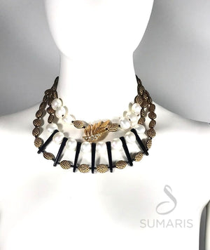 BLACK WIDOW OOAK STATEMENT NECKLACE Necklace