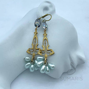 BLUE DANUBE LIMITED EDITION STATEMENT EARRINGS