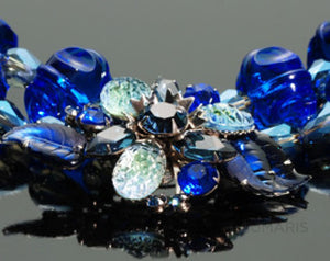 Blue Velvet Necklace Sumaris Array Costume Jewelry hidden Necklaces $150.00 Sumaris