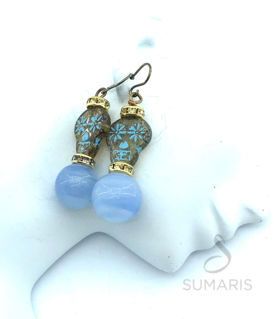 BLUE VOODOO STATEMENT EARRINGS Earrings
