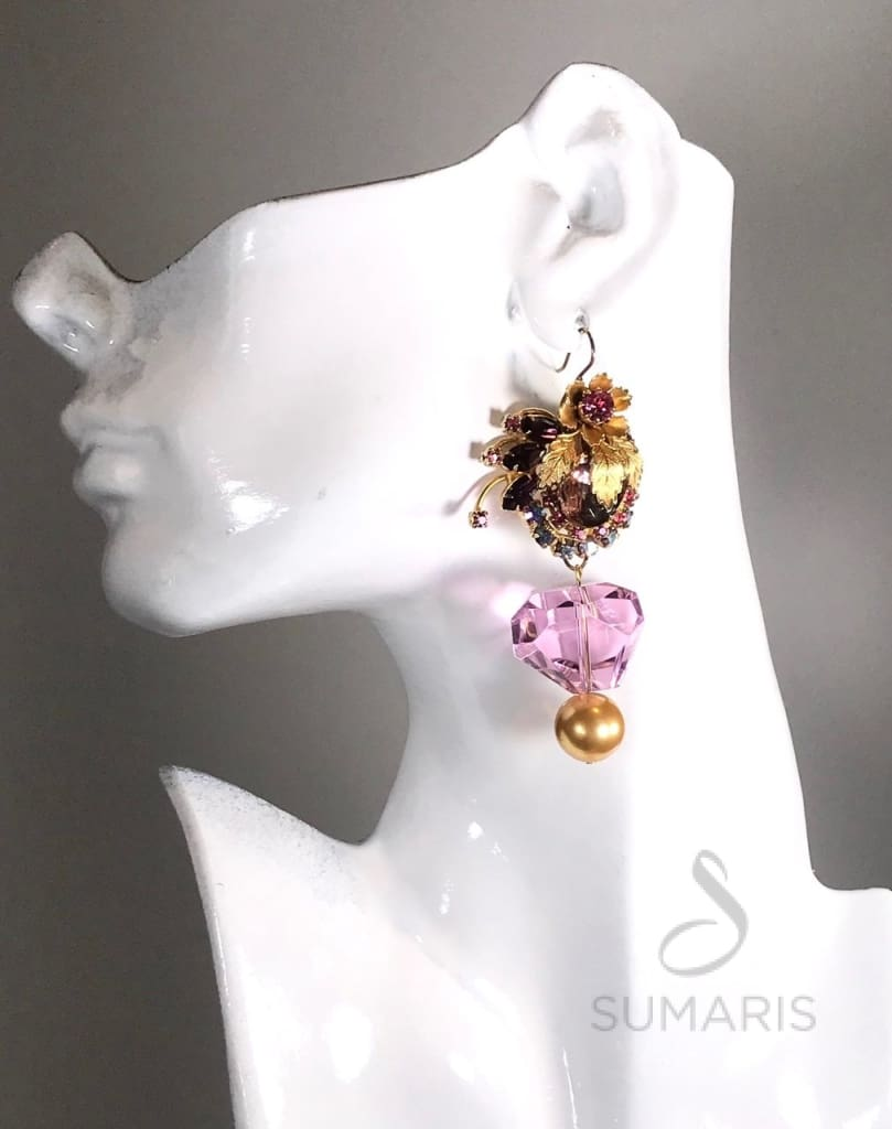 BLUSH OOAK STATEMENT EARRINGS Earrings