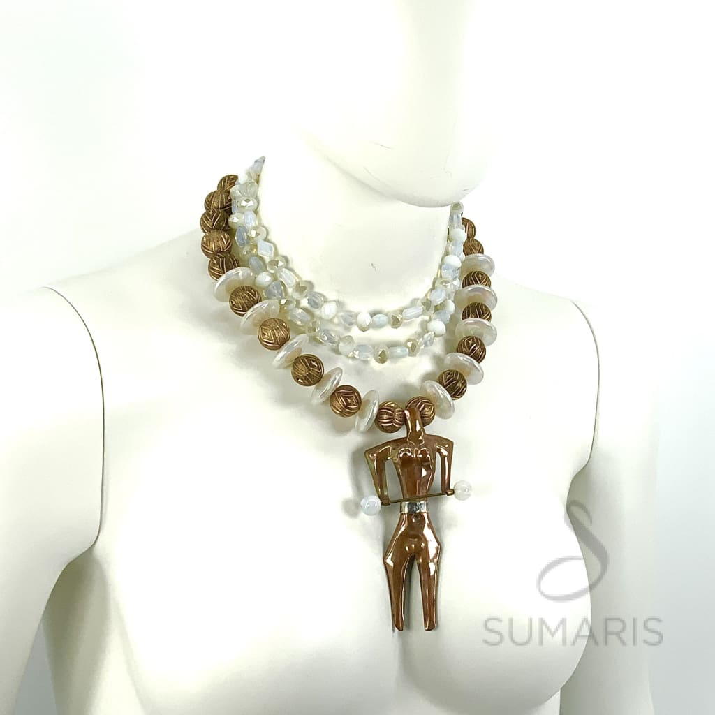 BODY BUILDER OOAK STATEMENT NECKLACE