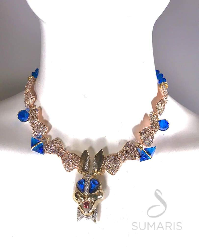 BOW-TIED OOAK STATEMENT NECKLACE